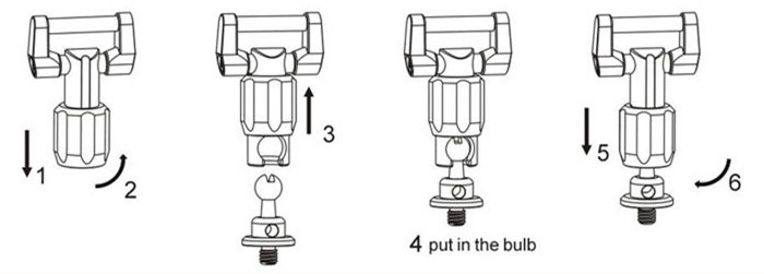 How to connect Ball Head Connector